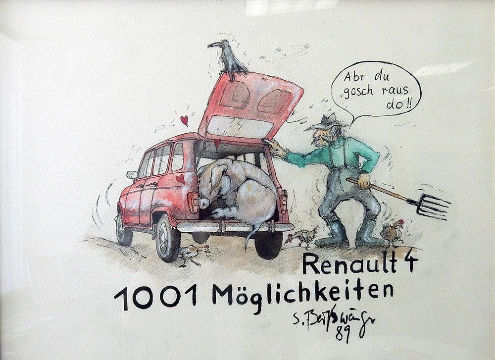 Renault-Zeichnung-S. Beisswaenger Renault im Schwabenland